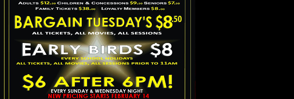 $6 after 6pm now on Sundays & Wednesdays