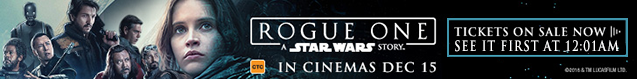 Rogue One Midnight Sale Banner