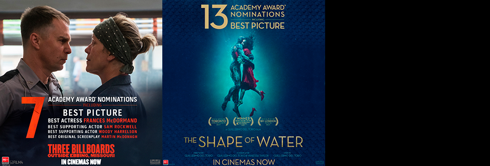 The Shape of Water & Three Billboards Outside Ebbing Missouri